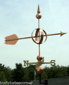 """Ingenious Large 48"""" Copper """"fancy Arrow """" Weathervane Made In Usa #119 Weathervanes & Lightning Rods"""