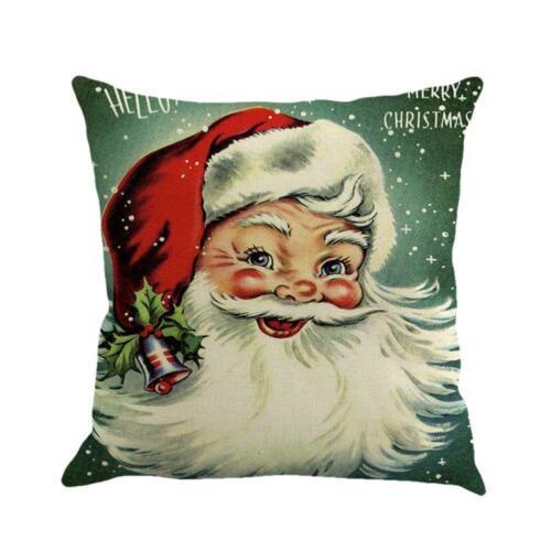 Christmas Xmas Santa Claus Sofa Throw Pillow Case Cushion Cover Home Car  #Buy