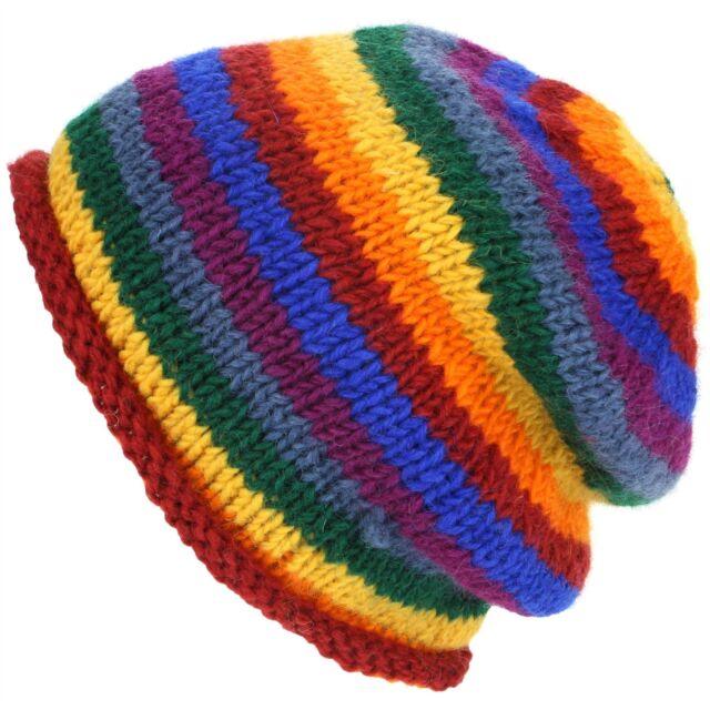 Beanie Hat Cap Wool RAINBOW Warm Winter Lined LoudElephant Men Ladies Knit  Ski eee685f8776
