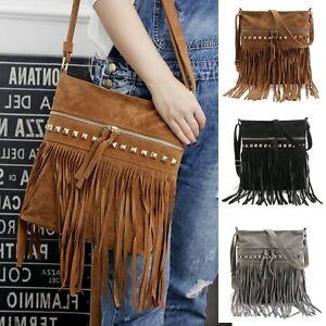Fashion-Women-Fringe-Tassel-Shoulder-Bag-Crossbody-Bag-Messenger-Handbag-Tote