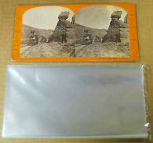STEREOVIEW-SLEEVES-Lot-of-100-ARCHIVAL-SAFE-1-5-mil-Crystal-Clear-Polypropylene