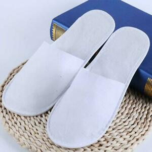 5-Pairs-Disposable-Closed-Toe-Guest-Slippers-Terry-SPA-Shoes-I3Z7-Hotel-Sli-P9R3