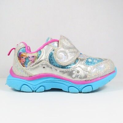 "Girls Toddler Disney /""Frozen/"" 86809 Sneakers New Light Blue F9"