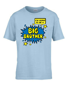 Birth Announcement Big Brother T Shirt Supersoft Cartoon Style