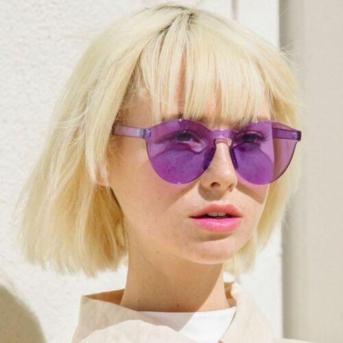 Fashion Stylish Round Color Women/'s Rimless Sunglasses
