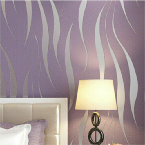1M Embossed Texture Wallpaper Metallic 3D Damask Wall Roll Vinyl Floral Decor