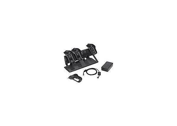 Zebra 4 Slot Charge Cradle MC55//MC65//MC67 CRD5501-4000CR w A//C adapter /& Cables
