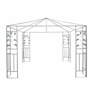 Outsunny-10-039-x10-039-Outdoor-Patio-Gazebo-Stand-Steel-Frame-Canopy-Cover-Leaf-Design