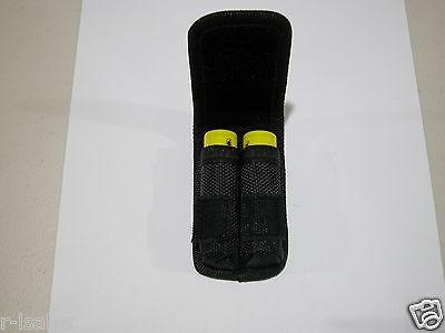 1 Nylon Case Holder Storage  For 2 x 18650 Battery belt holster clip hook