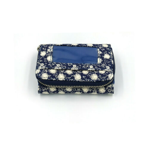 Woman Lady Lovely Floral stitched Denim Canvas Purse Card Holder Coin Wallet
