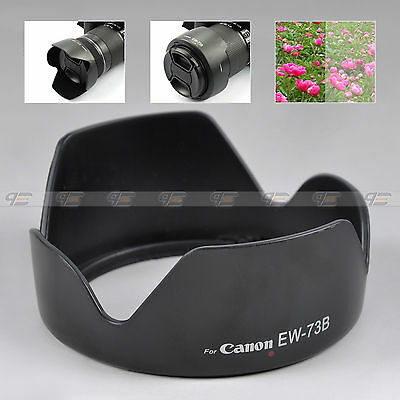 Black EW-73B EW73B Camera Lens Hood for Canon EF-S 18-135mm f/3.5-5.6 IS