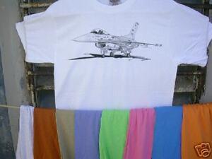 Airplane-T-Shirt-Lockheed-GD-F-16-XL-FREE-US-S-amp-H