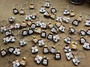 wedding wine charms favours Handmade Party Personalised 99p Each ...