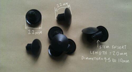 Fix1k 9,5 mm A 10mm NERO Fir Tree Trim Pannello Corpo mantenendo Fissaggio Clip X12
