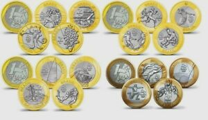 16 Pcs Full Coin Set RIO OLYMPIC GAMES Uncirculated Brazil 1 Real 2016,