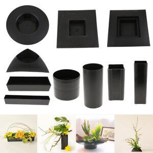 Plastic-Ikebana-Suiban-Vase-Pot-Flower-Arranging-Base-Holder-Various-Shape