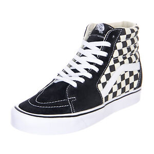 Details about Vans Sk8-Hi Lite Checkerboard Black/White - High Sneakers  Man/Woman Chess