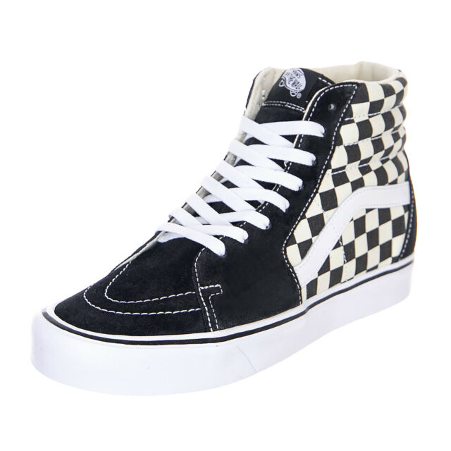 Vans Sk8-Hi Lite Checkerboard Black/White - High Sneakers Man/Woman Chess