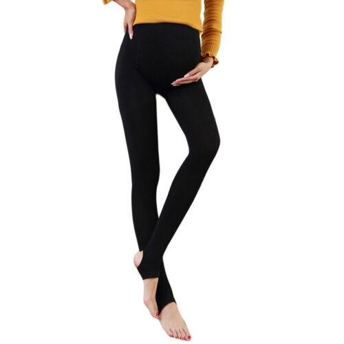 Damen Umstandsmoden Leggings Strumpfhosen Winter warme 3D Bauchstütze Hose