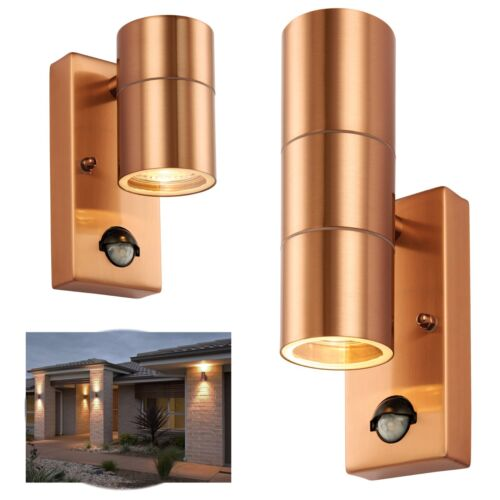 SALE~ Up Down Outdoor Porch Outside Wall Garden Lights PIR Motion Sensor ~COPPER