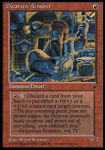 1x Dwarven Armorer Fallen Empires MtG Magic Red Rare 1 x1 Card Cards
