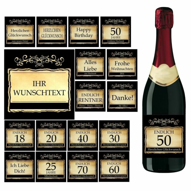 D13 Flaschenetikett f Bierflaschen für Geburtstag mit Foto Sektflaschen
