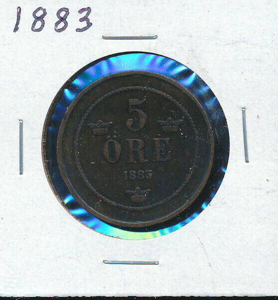 Sweden 5 Ore 1883 For Sale Online Ebay