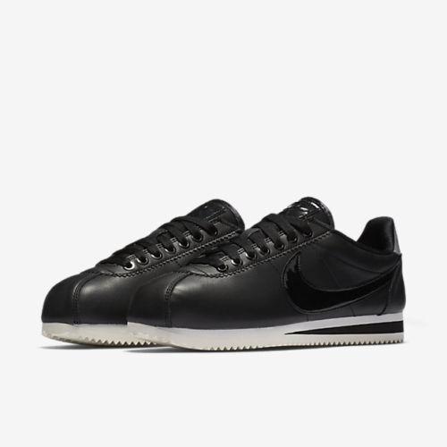 Wouomo Nike Classic Cortez SE PRM AJ0135-001 SZ 5-10 US DS Patent Casual nero