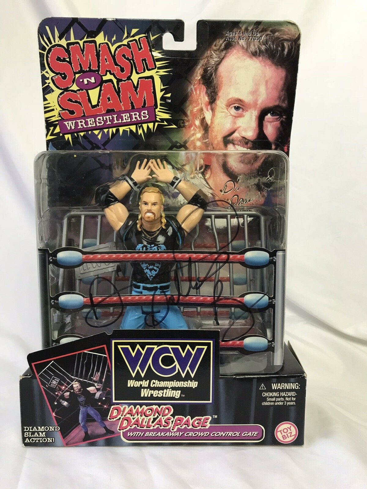 Autographed WCW Superstar Diamond Dallas Page Signed Wrestling Action Figure WWE
