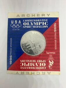 1996 USA Commemorative Olympic Sport Medallion Atlanta Georgia Archery Sealed!