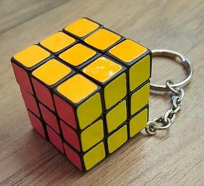 100% Vero Portachiavi Cubo Quadrato Mente Gioco Puzzle Nuovo-mostra Il Titolo Originale Asciugare Senza Stirare