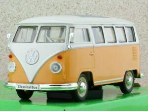 VW Volkswagen T1 Bus - 1963 - darkyellow - WELLY 1:24
