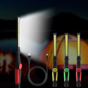 COB-Strip-LED-Li-Ion-Akku-Arbeitsleuchte-Werkstattlampe-Lampen-mit-Ladestation