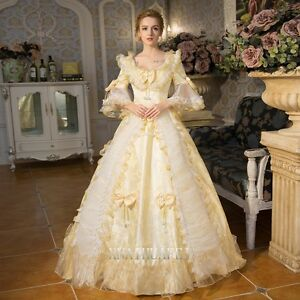 18th Rococo Cosplay Renaissance Queen Prom Dresses Ball