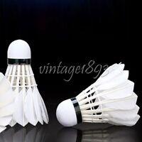 12 Pcs Natural Feather Shuttlecock Training Badminton Racquet Sporting Goods