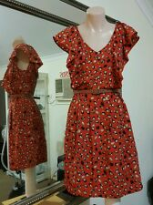 Modcloth 'Little birdy' Dress.Sz6.Light satin, lined skirt.As new condition.