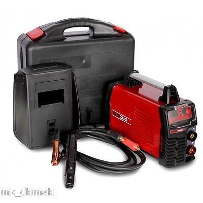 Soldador Inverter MetalWorks TEC200  amperímetro digital  incluye maletín.