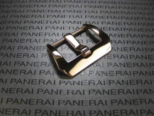 22 mm OR ROSE plaque pré-V vis en Suisse 316 L acier inoxydable Boucle faites pour PANERAI