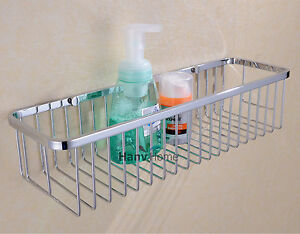 Image Is Loading Rectangular Shower Caddy Stainless Steel Wall Mount Shower