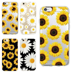 hot sale online 8631d 8cfff Details about Daisy Sunflower Soft Clear Phone Case For iPhone 5 6 6s 7 8  Plus X Xr Xs Max New
