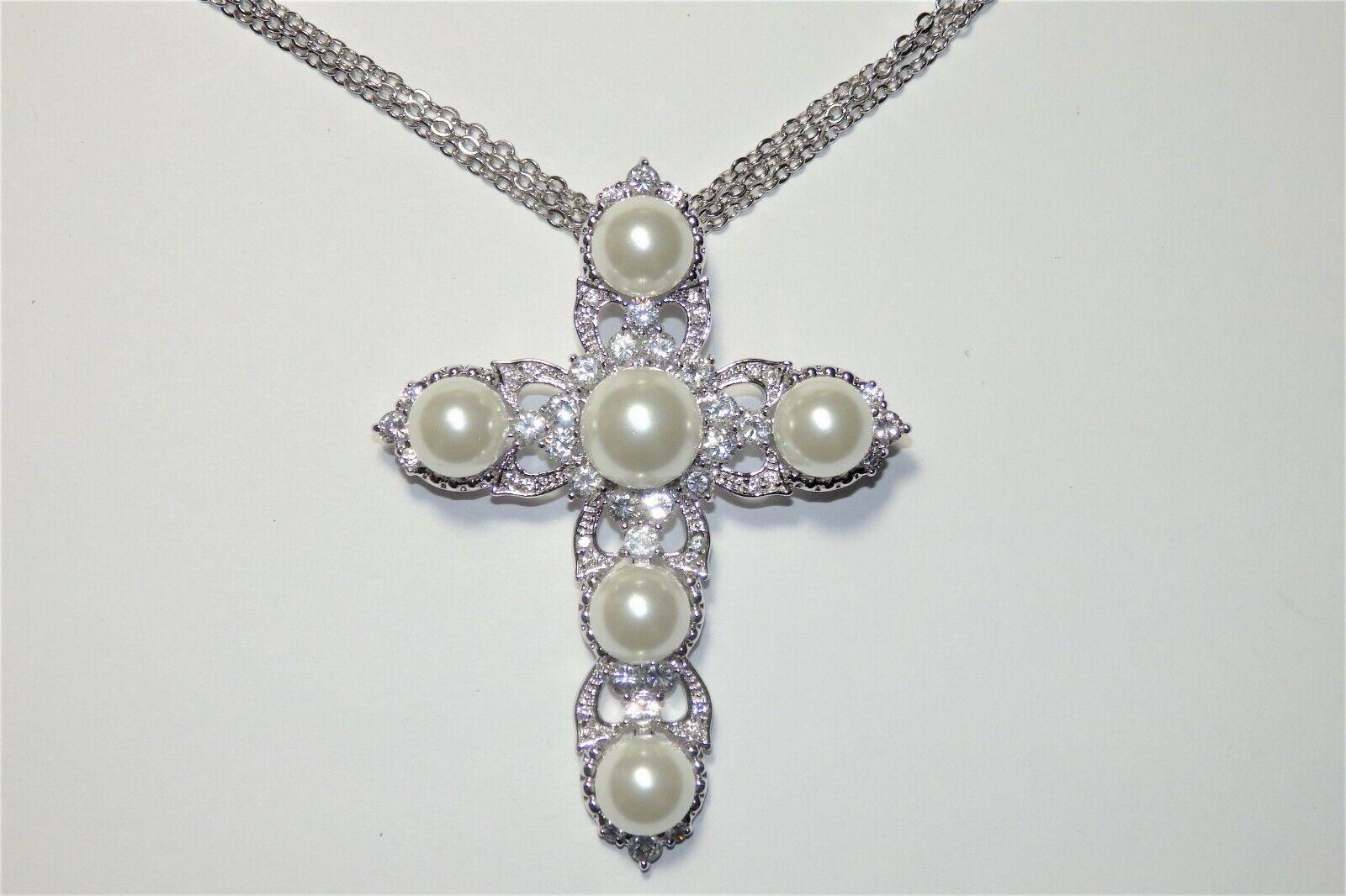 Rare JOAN BOYCE Crystal Rhinestone & Faux Pearl C… - image 8