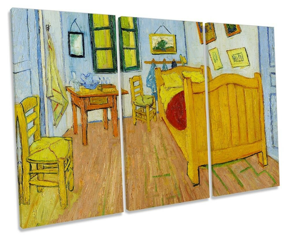 Vincent van Gogh's Bedroom Bedroom Bedroom in Arles CANVAS WALL ART Three Panel 4138d0