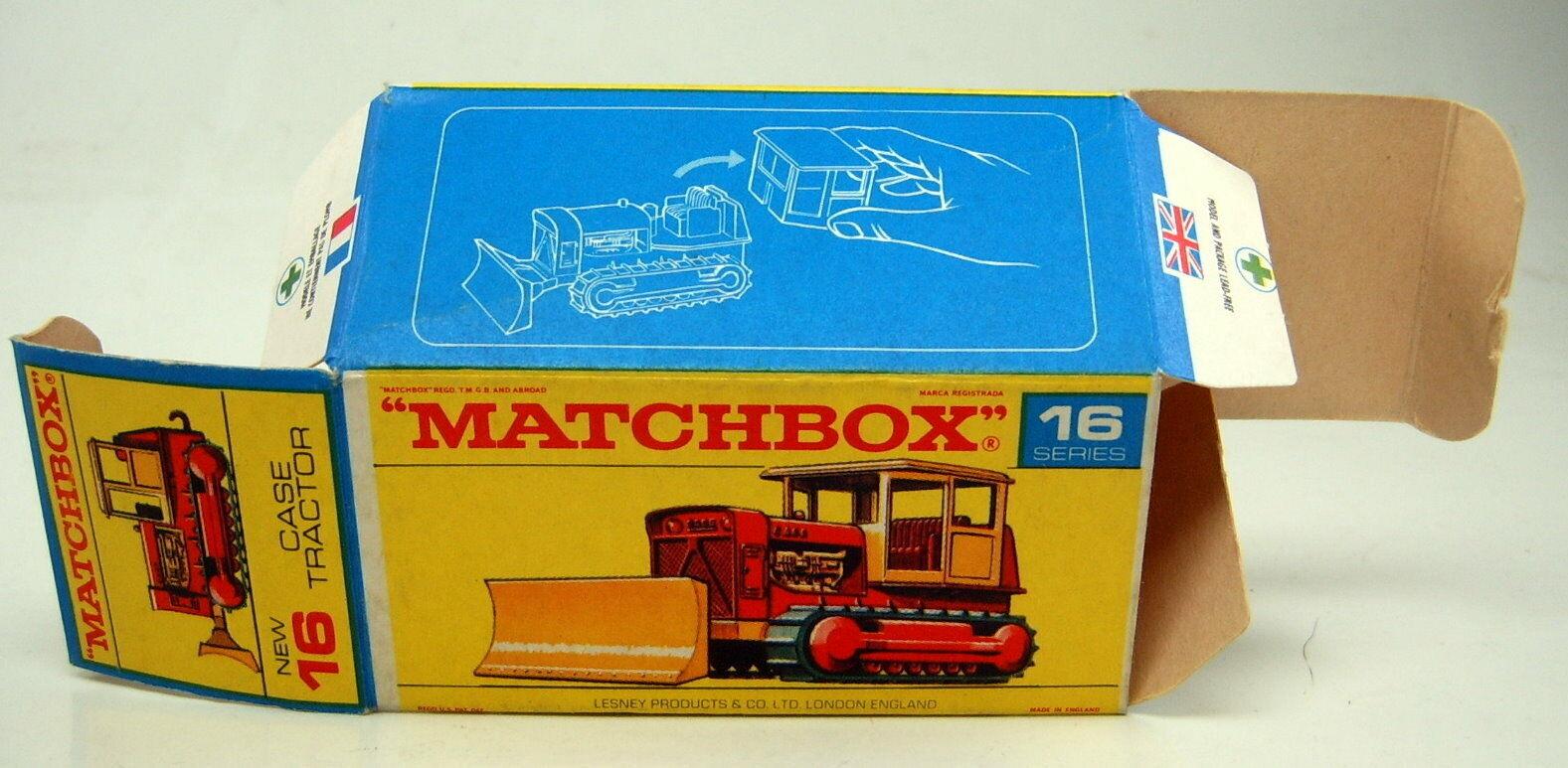 Matchbox RW 16D Case Case Case Bulldozer leere originale  F3  Box perfekt ccdf79