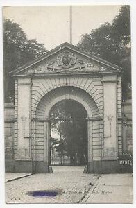 France-Dunkirk-Dunkerque-La-Porte-du-Parc-de-la-Marine-WW1-censored-postcard