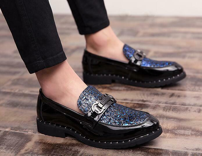 Mens  business Oxfords Casual shoes Sequins Sz Dress formal shoes Loafers Us7-10