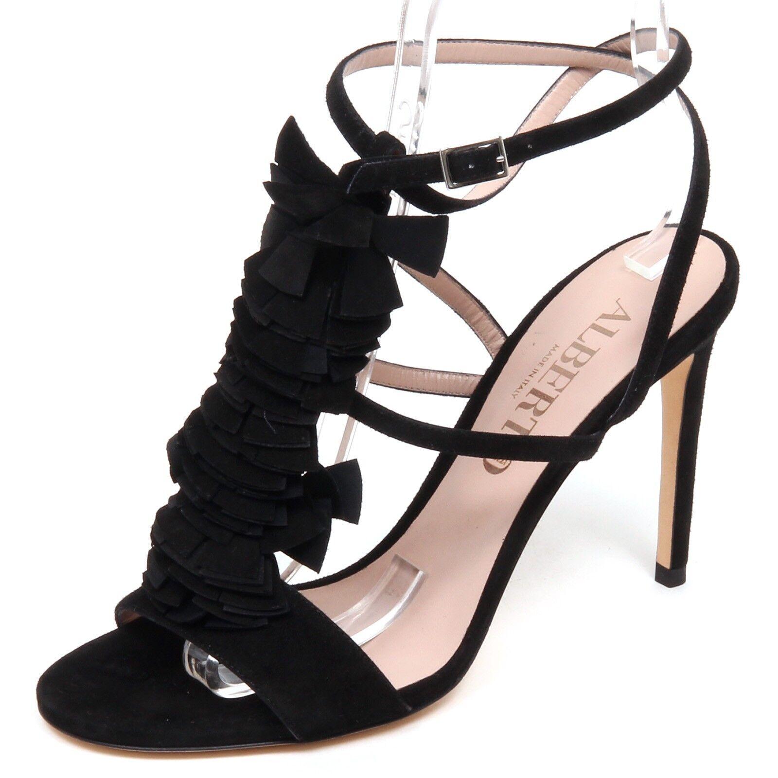F1810 Sandalo mujer Negra Sandalia Zapato De Gamuza Alberto Gozzi zapatos Mujer