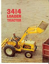 Ih International 3414 Industrial Loader Utility Tractor Color Brochure 414