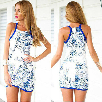 New Women's Summer Sexy Floral Bodycon Party Evening Cocktail Short Mini Dress