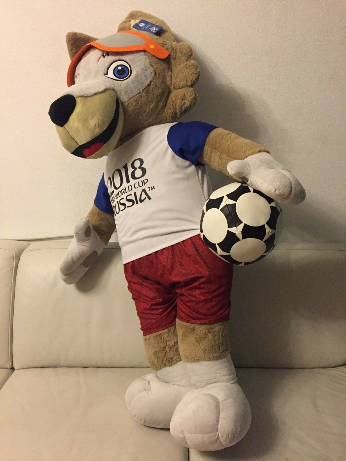 Zabivaka Wolf 150CM Soft Plush Gift Toy, FIFA World Cup 2018 Soccer Football