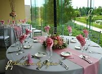 """37 + Colors 10/20  12 """"X 108"""" Satin Table Runner  Wedding Party Decor Decoration"""